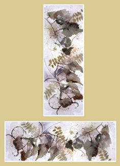 Leaf Scroll Brown